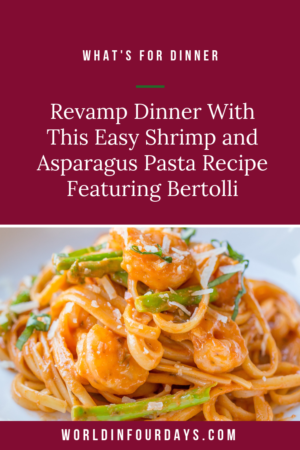 Give your taste buds a kick with this easy to make Shrimp and Asparagus Pasta featuring Bertolli® Organic Creamy Alfredo Sauce and Bertolli® Traditional Marinara with Italian Herbs & Fresh Garlic Sauce. Your pasta will never be the same again!