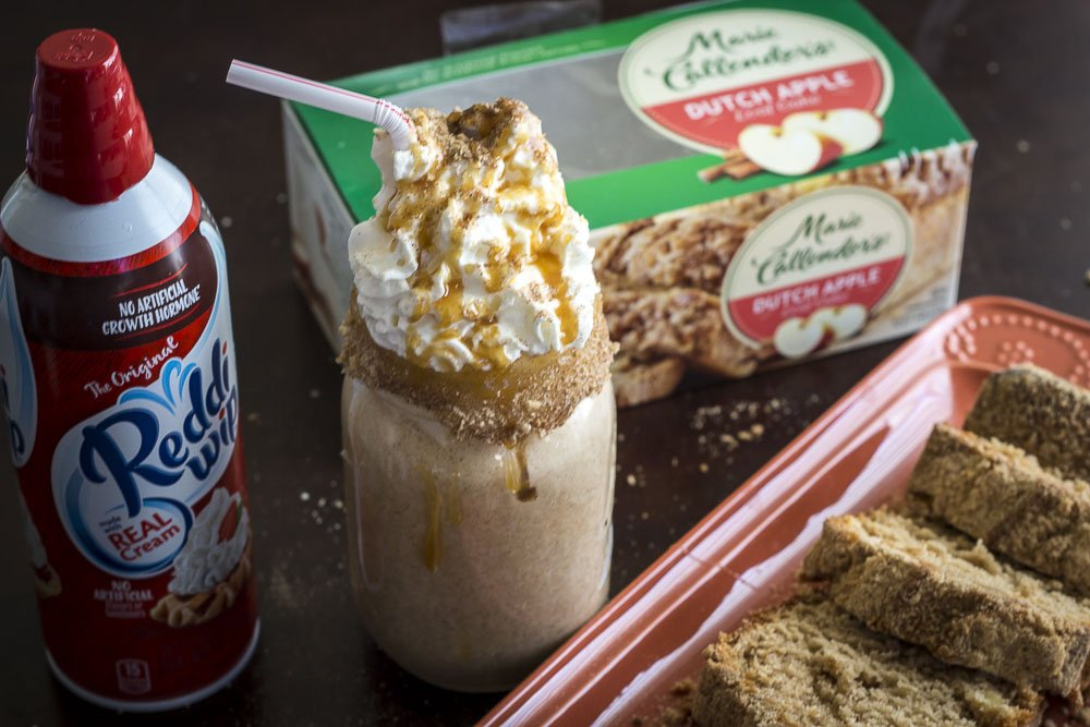 DIY Crazy Shake Made From Marie Callender's® Dutch Apple Loaf Cake