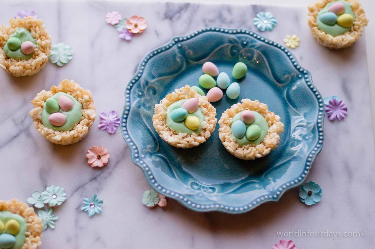 Rice Krispy Nests | Easter might be over but these super easy Rice Krispy Nests are still all the rage and are perfect for baby showers, bridal showers and just everyday baking for with kids.