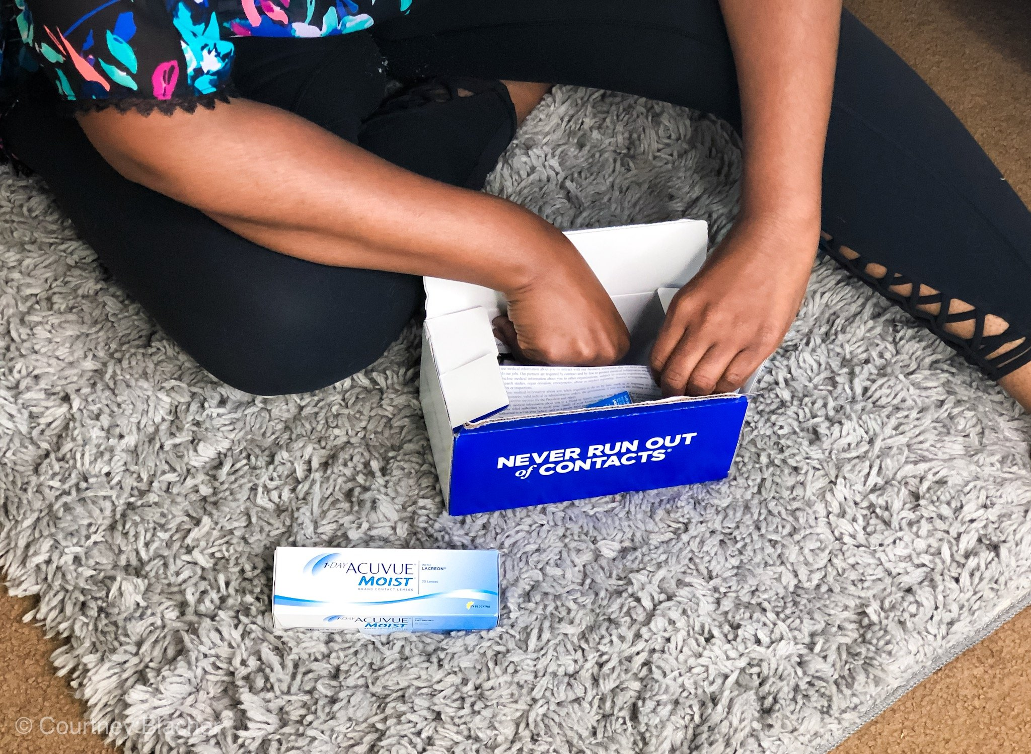 Have you ever run on of contacts, needed an updated exam but didn't have enough time? Don't worry, there's now an app for that. Thanks to 1800-Contacts, you can now take an online contact lens exam via there app and have your new contacts shipped right to your door. They even offer overnight shipping!