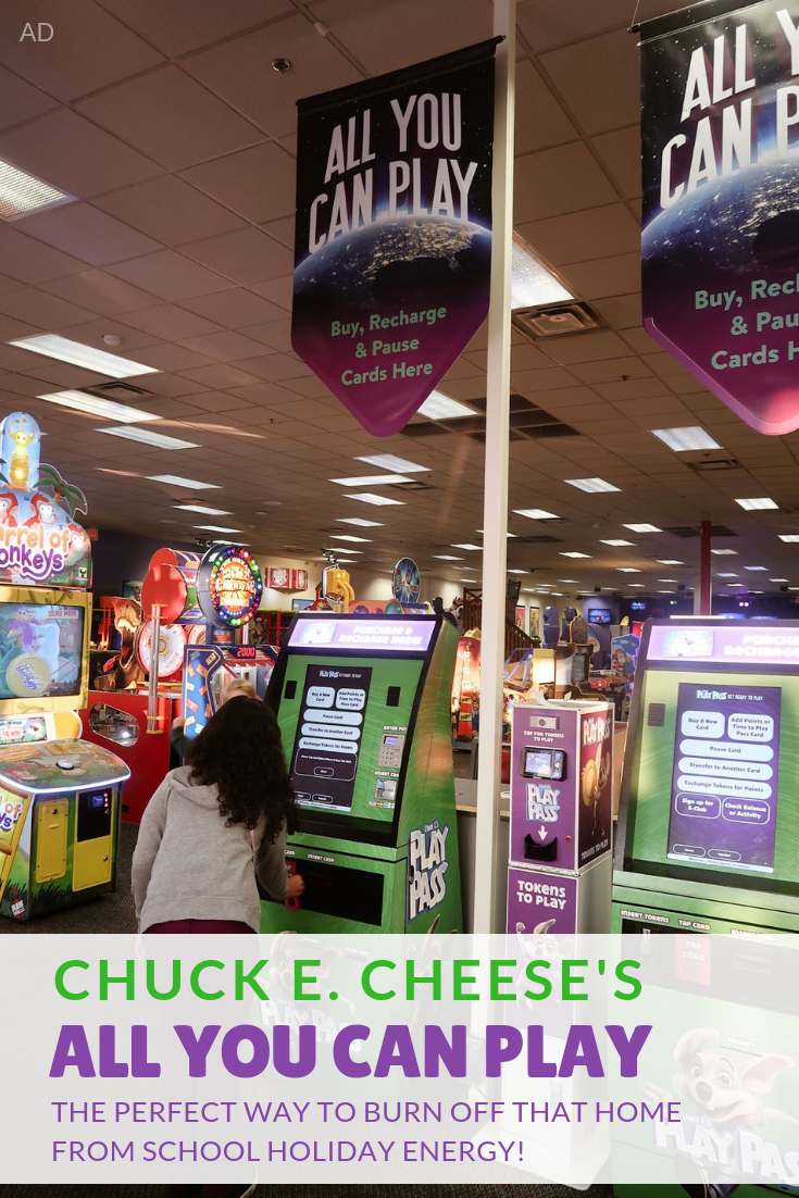 The holidays are here which means parents everywhere are looking for ways to entertain their kids for holiday break. I love spending quality time with Reese so Chuck E. Cheese's All You Can Play is a great option for when she's bored and wants out of the house and I don't want to spend a fortune entertaining her.