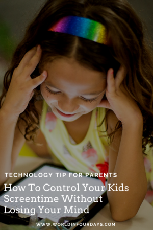 """Nowadays kids spend a lot of time on technology. Doing homework, playing video games chatting with friends. All that time adds up and if you're not careful, it can add up to a lot. If you're looking to curb your child's screen time, check out this post """"How to Control Your Kids Screen Time Without Losing Your Mind""""!"""